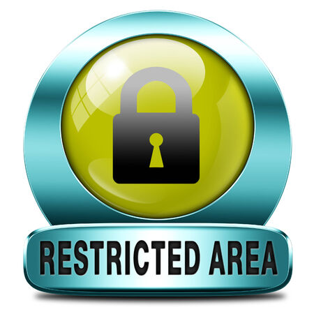 members only: restricted area members only access key icon password protected Stock Photo