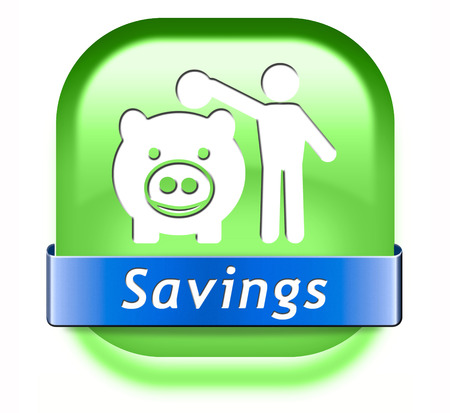 savings money saving in piggy bank deposit account with plan to save cash online banking photo