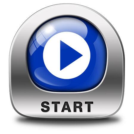 incominciare: avviare o iniziare il film o il video gioco nuovo inizio
