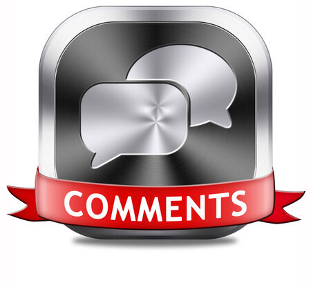 Comments button sign or icon, feedback on blog and give your opinion and testimonials photo