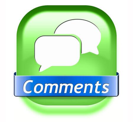 t�moignages: Commentaires signe bouton ou ic�ne, commentaires sur le blog et donnez votre avis et des t�moignages