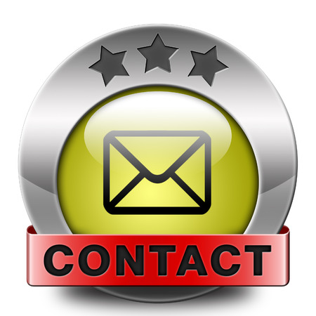 contact address icon or button. Write or mail address email or postbus coordinates photo