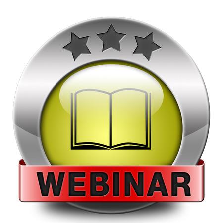 webinar online internet web conference meeting or workshop live video chat photo