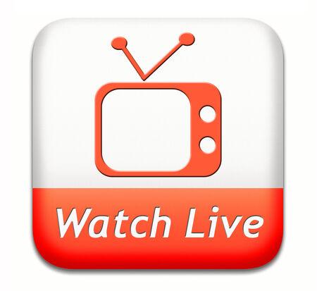 live stream: Watch live stream TV, video film or streaming movie  Stock Photo