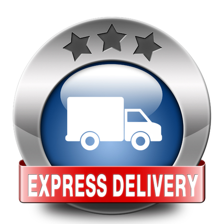 webshop: express delivery shipping online order from internet webshop web shop icon Stock Photo
