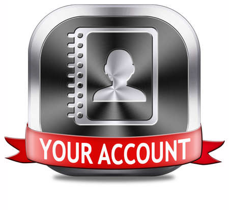Your account navigation or profile button or icon photo