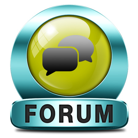 participate: forum internet icon or button website www logon login and subscribe to participate in discussion  Stock Photo