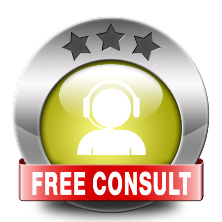free consult icon or help and information desk button optimal customer support Gratis consultation service and advice.  photo