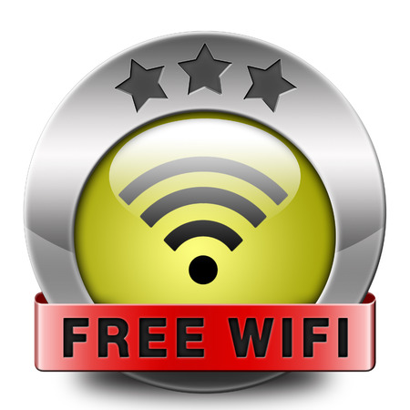 wifi access: free wifi area and internet access icon or button
