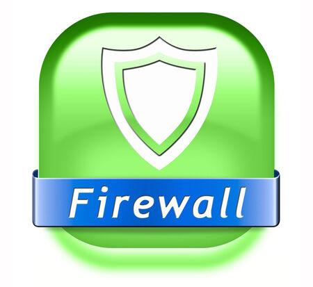 virus informatico: protecci�n de datos cortafuegos contra el virus de la computadora y de seguridad de base de datos en el bot�n de internet Foto de archivo