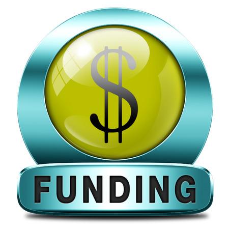 grants: funding icon fund raising for charity money donation for non profit organization Stock Photo
