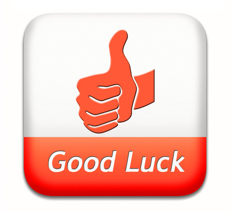 good wishes: good luck, best wishes wish you the best of luck and fortune Stock Photo