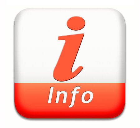 Information or info button or icon find and search answers on questions photo