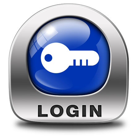 login icon or user or member log in button website banner photo