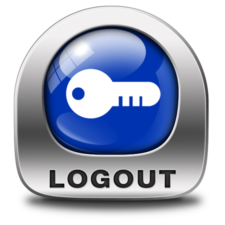 logout icon or user or member logout button or banner photo