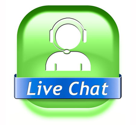 live chat icon. Chatting online button.  photo