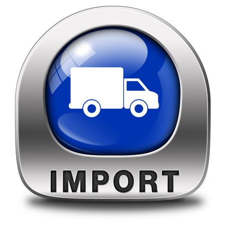 global trade: import icon international and worldwide or global trade on world economy market. importation and exportation