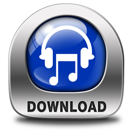 listen live stream: Music download button or icon to play and to listen live stream or for download song