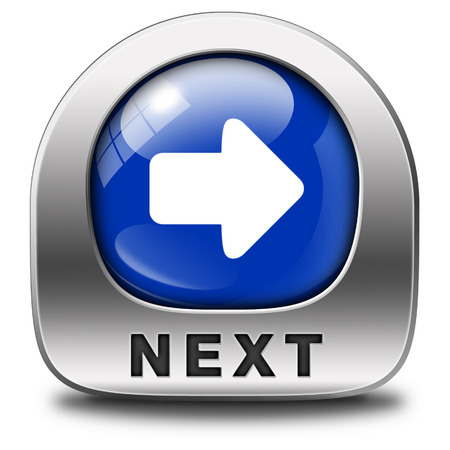 next icon what is next step or move what's now button  Stock Photo