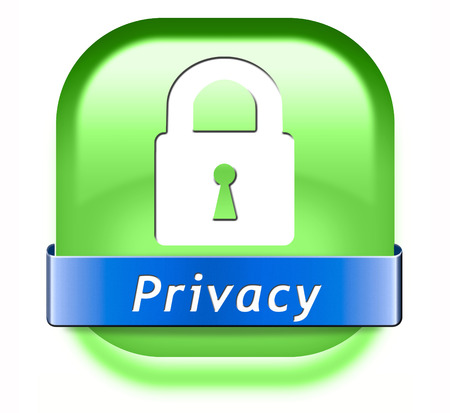 privacy private area protection of personal online data or confidential information, password protected info button or sign Stock Photo - 26969490