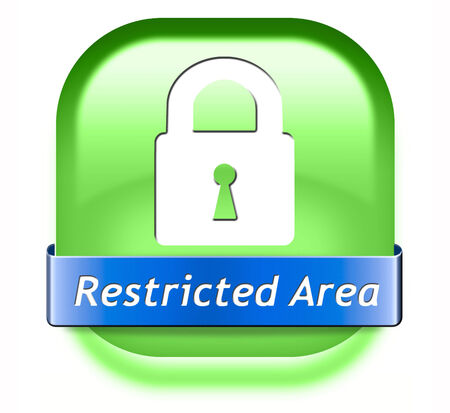 members only: restricted area membership required password protected members only access key icon  Stock Photo