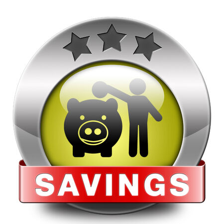 saving money in piggy bank deposit account with savings plan save cash online banking photo