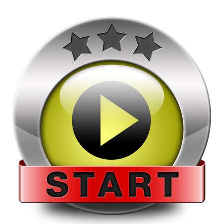 start: starten oder beginnen das Spiel-Film oder Video Neuanfang