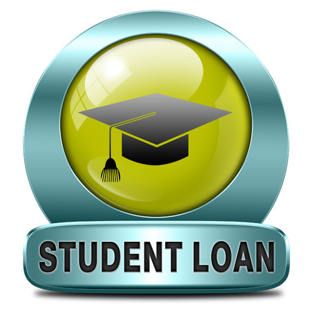 education loan: student loan icon for university or college education Stock Photo