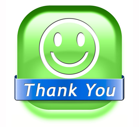 expressing: Thank you note saying thanks a lot sign expressing gratitude