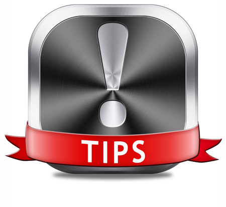 hint: tips helpful tip and trick hot idea clue and tricks Stock Photo