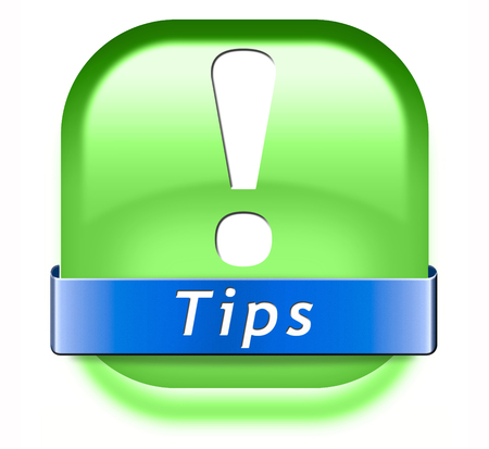 clue: tips helpful tip and trick hot idea clue and tricks Stock Photo