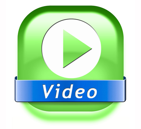 live stream sign: Play video clip button or watch movie online icon or in live stream, multimedia