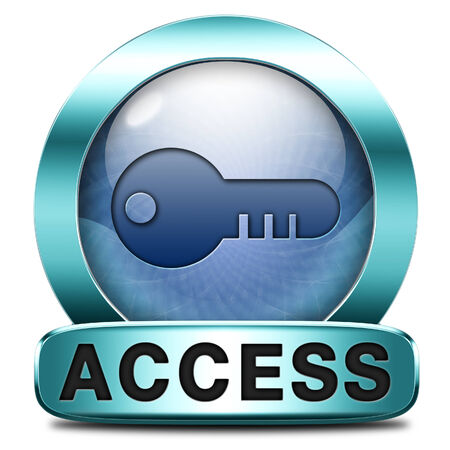vip area: access key icon password protected restricted area members only Stock Photo