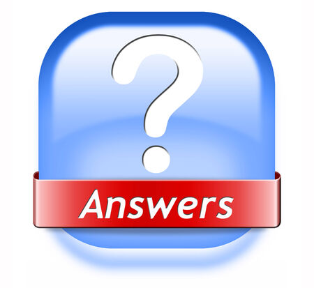 answers search answer on the questions, solve problems and find solution. result of a pop poll Stock Photo