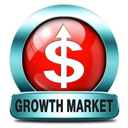 emerging market: growth market economy growing emerging economies in international and global leading countries Stock Photo
