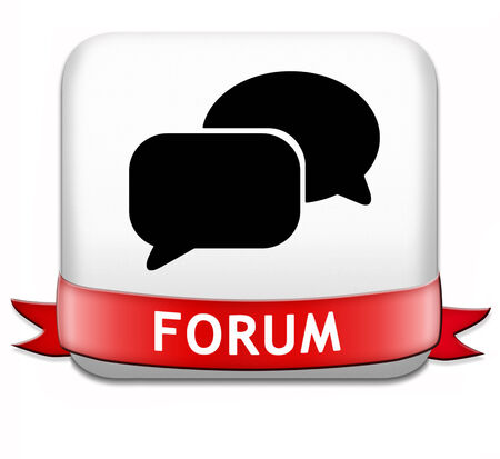 logon: forum button internet icon website www logon login and subscribe to participate in discussion  Stock Photo