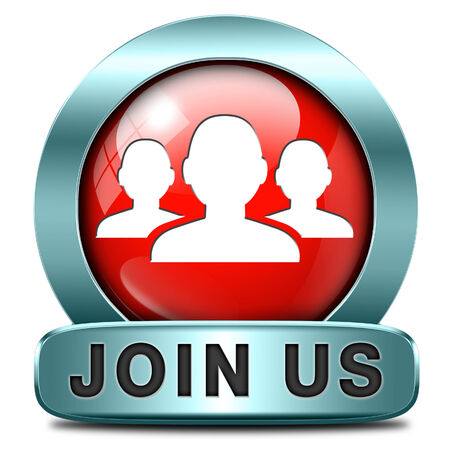 Join us now and register  for free today. Registration icon member button or membership sign photo