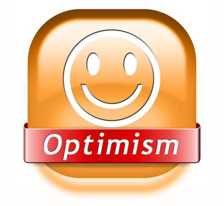 optimism think positive having a positivity attitude leads to a happy life and mental health  photo
