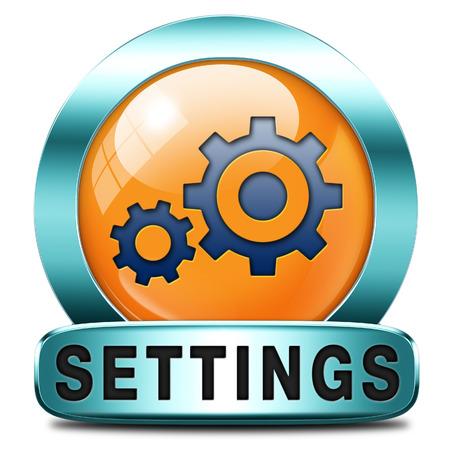 tweak: settings Cogwheel gear mechanism change or reset button default setting icon