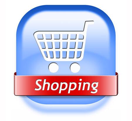 webshop: online shopping internet web shop webshop icon or button Stock Photo
