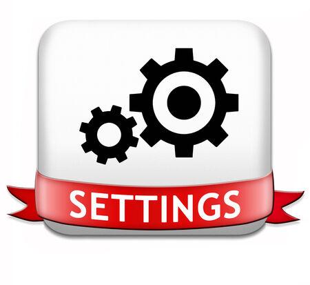 tweak: settings button cogwheel gear mechanism change or reset sign default setting icon