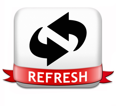 refresh button or redo and reload sign photo