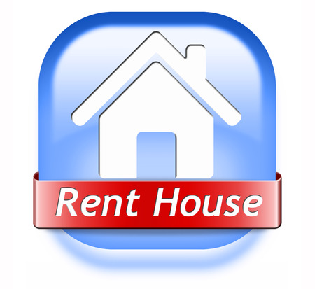 for rent sign: house for rent sign, renting a flat, room apartment or other real estate sign. Home to let icon.