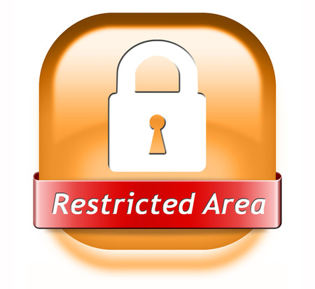 vip area: restricted area membership required password protected members only access key icon  Stock Photo