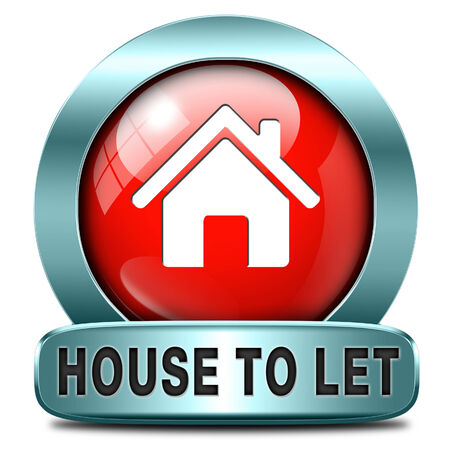 room to let: For rent sign, renting a house apartment or other real estate to let label. Home flat or room to let icon.