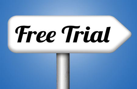 free sample: free trial membership or product promotion sign