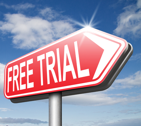 free trial membership or product promotion download and try no charges photo