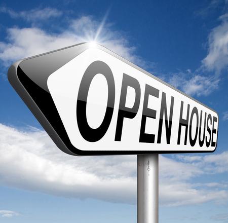 open huis: Open huis verkopen of kopen van onroerend goed bezoek modelwoning voordat je kopen of huren