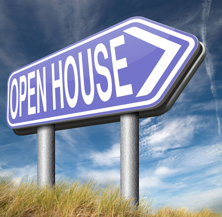 Open house selling or buying real estate property visit model house before you buy or rent photo