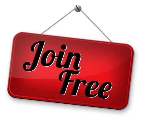 join free no registration fee for subscription, join today and become a member. Application icon, button or sign. photo